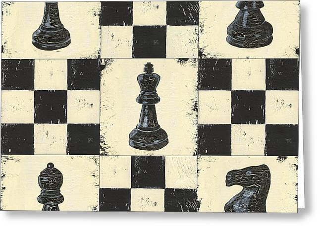 Knighting Paintings Greeting Cards - Chess Pieces Greeting Card by Debbie DeWitt
