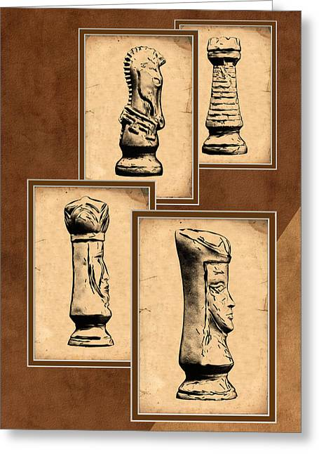 Rook Greeting Cards - Chess Pieces Greeting Card by Tom Mc Nemar