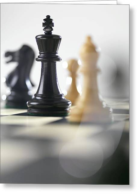 Chess Piece Greeting Cards - Chess Greeting Card by Tek Image