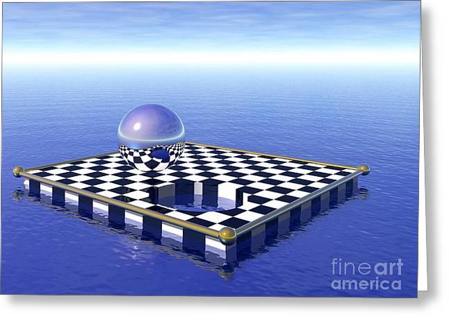 Chess Board Greeting Cards - Chessboard Greeting Card by Nicholas Burningham