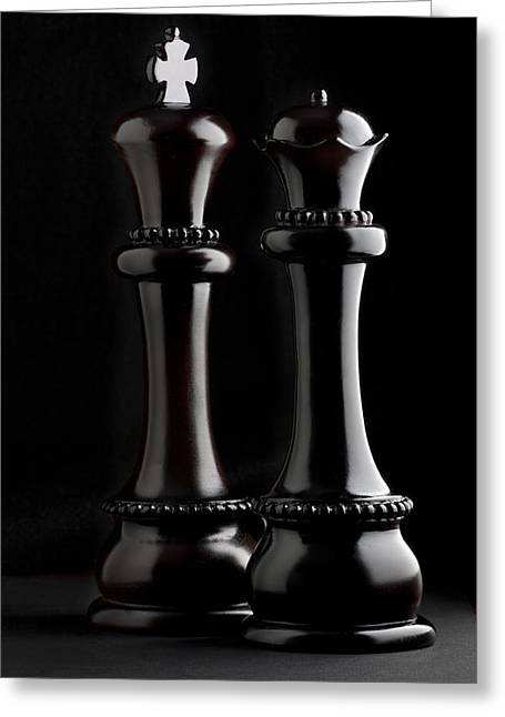 Board Games Greeting Cards - Chessmen I Greeting Card by Tom Mc Nemar