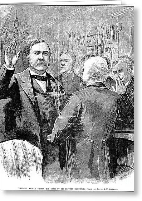 Oath Of Office Greeting Cards - Chester Alan Arthur Greeting Card by Granger