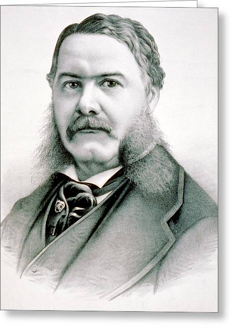 American Politician Greeting Cards - Chester Arthur - President of the United States of America Greeting Card by International  Images