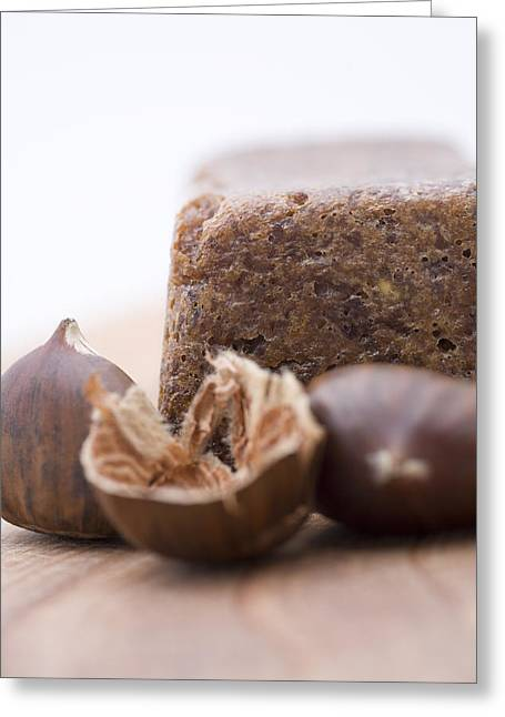 Chestnut Cake Greeting Card by Frank Tschakert