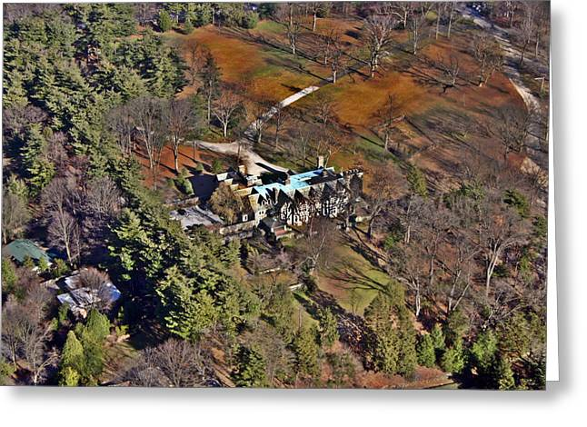 Pearson Aerial Greeting Cards - Chestnut Hill House Greeting Card by Duncan Pearson