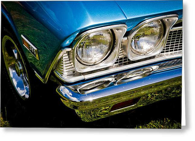 V8 Chevelle Greeting Cards - Chevelle Lights Greeting Card by Phil