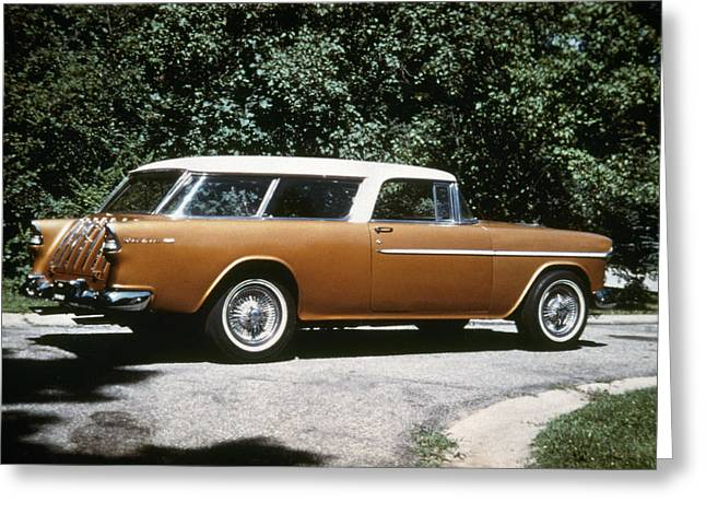 Station Wagon Greeting Cards - Chevrolet, 1957 Greeting Card by Granger