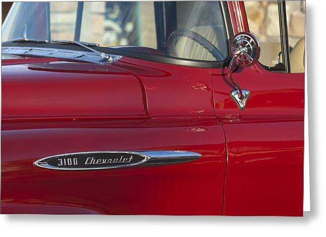 Chevrolet Pickup Truck Greeting Cards - Chevrolet 3100 Pickup Truck Greeting Card by Jill Reger