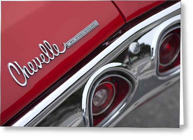 Chevelle Greeting Cards - Chevrolet Chevelle SS Taillight Emblem 2 Greeting Card by Jill Reger