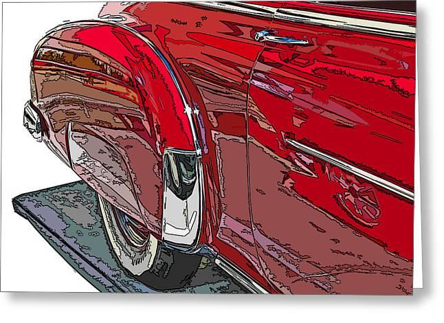Sheats Greeting Cards - Chevrolet Fleetline Deluxe Rear Wheel Study Greeting Card by Samuel Sheats