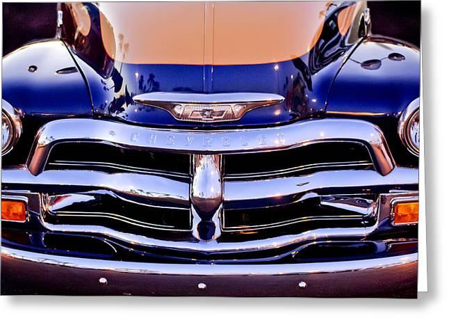 Chevrolet Pickup Truck Greeting Cards - Chevrolet Pickup Truck Grille Emblem Greeting Card by Jill Reger