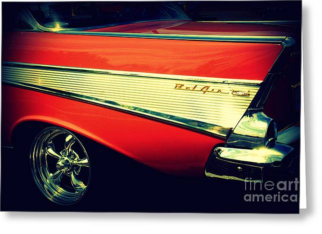 Auction Greeting Cards - Chevy Bel Air Greeting Card by Susanne Van Hulst