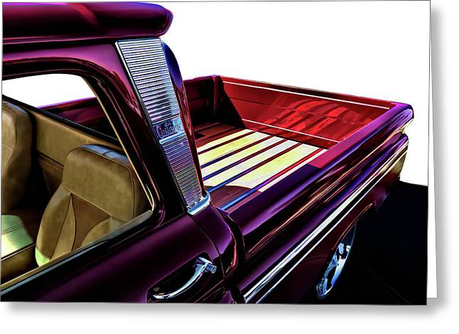 Chevy Pickup Greeting Cards - Chevy Custom Truckbed Greeting Card by Douglas Pittman