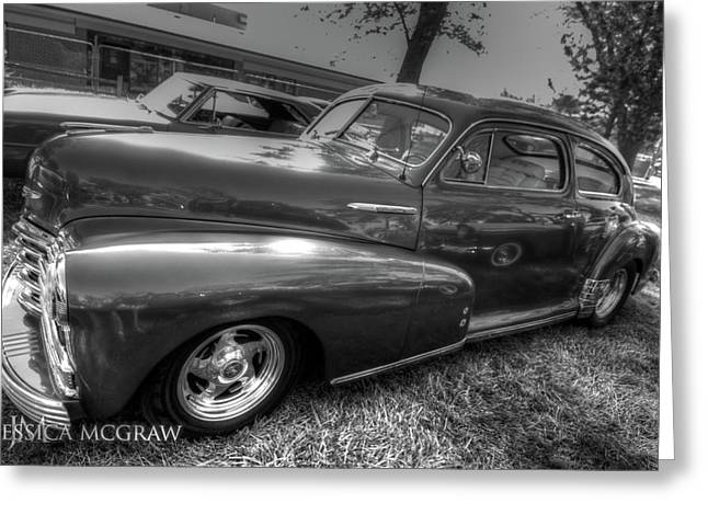 Car 47 Greeting Cards - Chevy Fleetline Greeting Card by Jessica Brooks