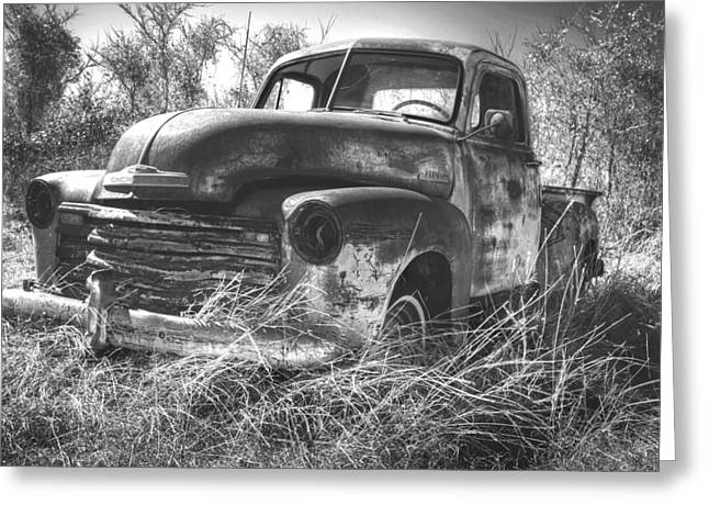 Chevy In A Field Greeting Card by Paul Huchton