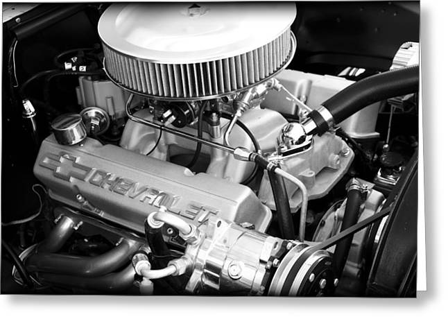Big Block Chevy Greeting Cards - Chevy Power Greeting Card by Ricky Barnard