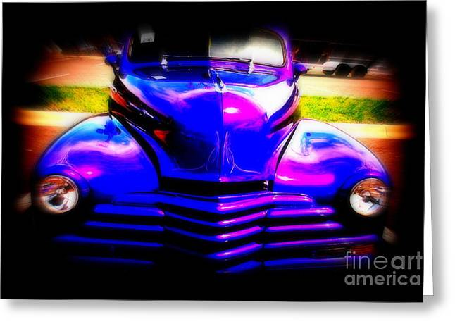 Auction Greeting Cards - Chevy Reborn Greeting Card by Susanne Van Hulst