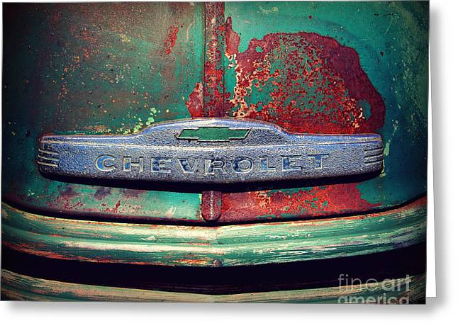 Paint Photograph Greeting Cards - Chevy Rust Greeting Card by Perry Webster