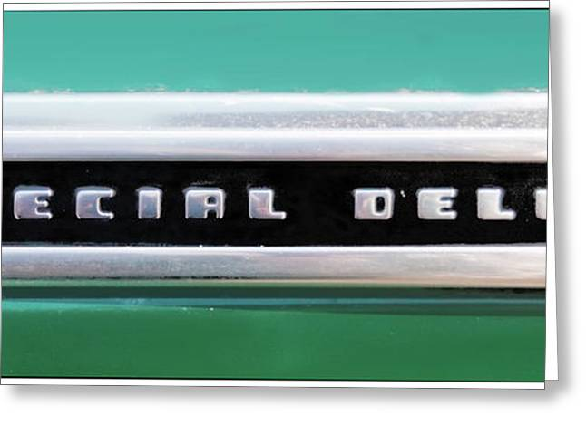 Delux Greeting Cards - Chevy Special Delux Greeting Card by Jan Maklak