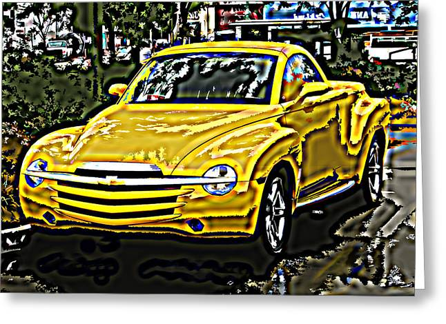 Sheats Greeting Cards - Chevy SSR Pickup Greeting Card by Samuel Sheats