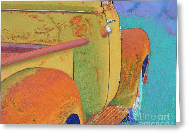 Chevrolet Pickup Truck Pastels Greeting Cards - Chevy Summer Greeting Card by Tracy L Teeter
