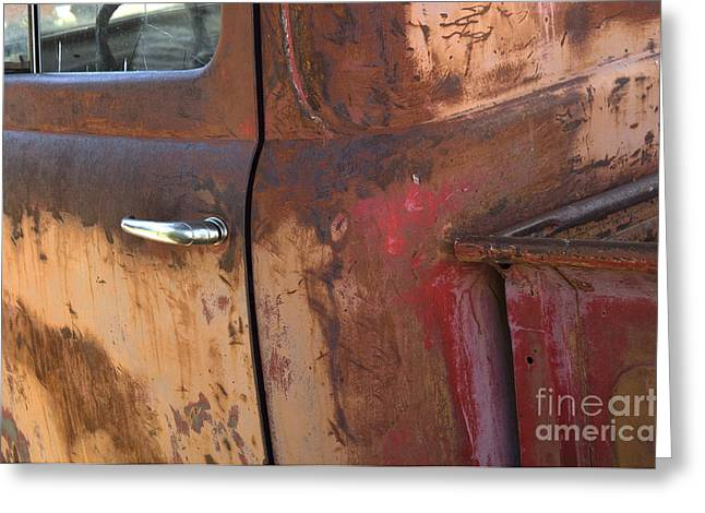 Truck Detail Greeting Cards - Chevy Truck Detail  Greeting Card by Bob Christopher