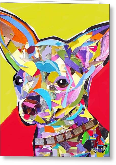 Chihuahua Collage Greeting Cards - Chewy Greeting Card by Julie Hiskett