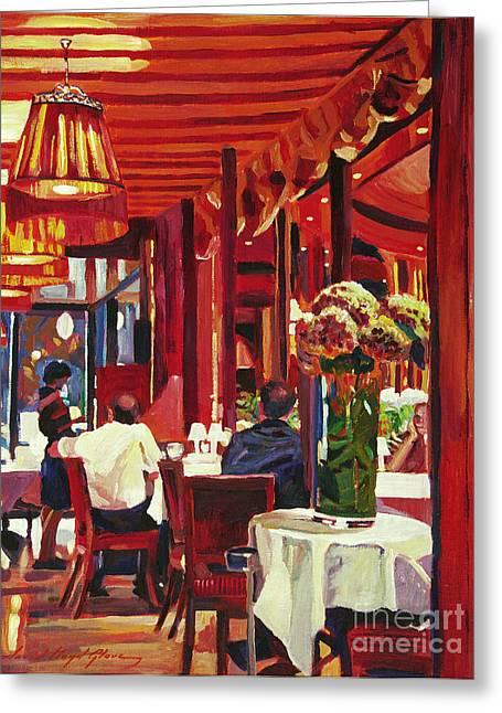 Chez Parisian Greeting Card by David Lloyd Glover