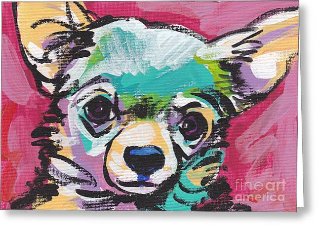 Chihuahua Portraits Greeting Cards - Chi Chi Greeting Card by Lea