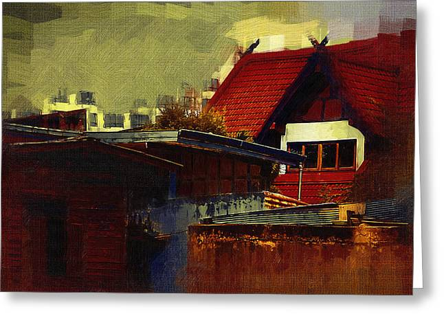 Chiang Mai House Greeting Card by Fran Woods