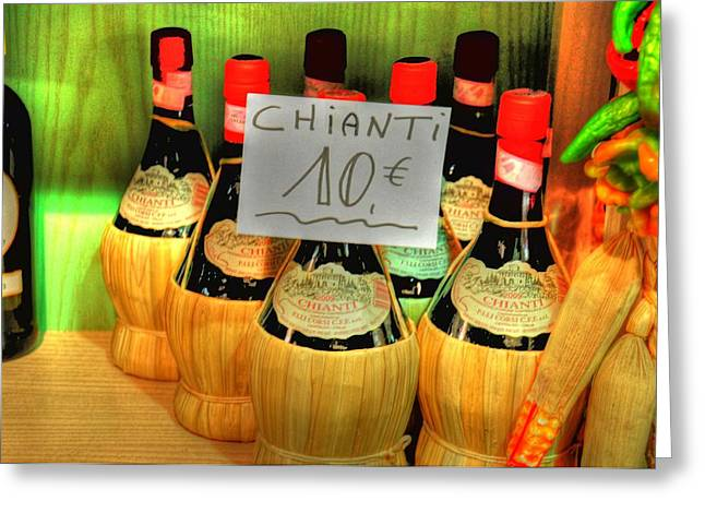 Chianti Digital Art Greeting Cards - Chianti Greeting Card by Barry R Jones Jr