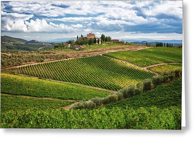 Chianti Hills Greeting Cards - Chianti Landscape Greeting Card by Eggers   Photography