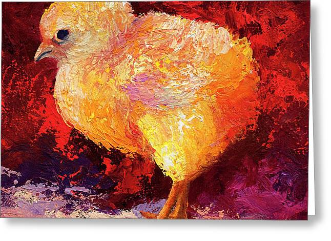 Barnyard Animals Greeting Cards - Chic Flci III Greeting Card by Marion Rose