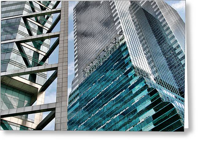 Chicago - A Sophisticated Finance Hub Greeting Card by Christine Till