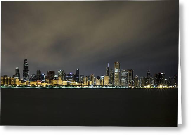Cj Greeting Cards - Chicago At 4am Greeting Card by CJ Schmit