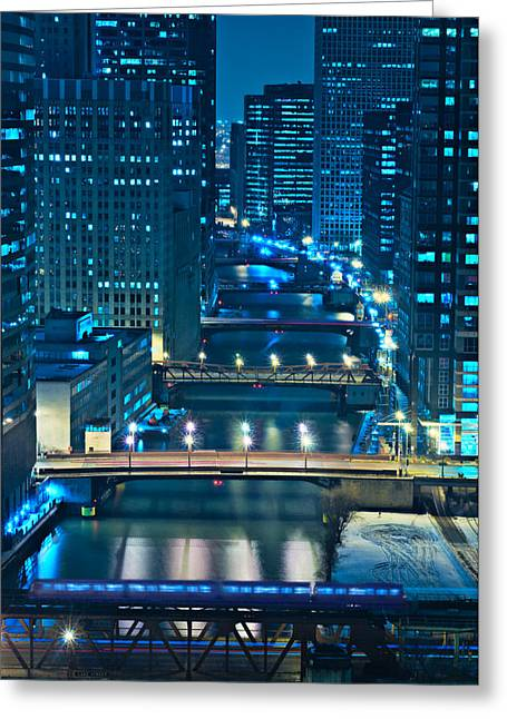 Tourism Greeting Cards - Chicago Bridges Greeting Card by Steve Gadomski