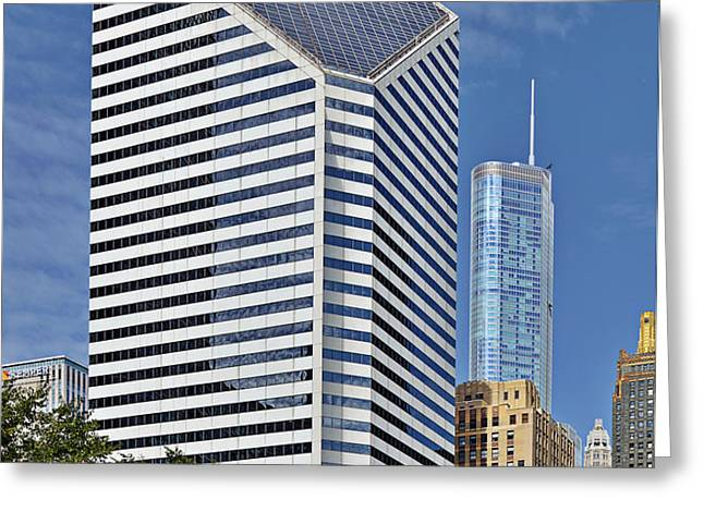 Chicago Crain Communications Building - former Smurfit-Stone Greeting Card by Christine Till