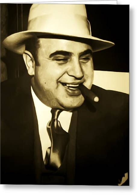 Chicago Gangster Al Capone Greeting Card by Bill Cannon