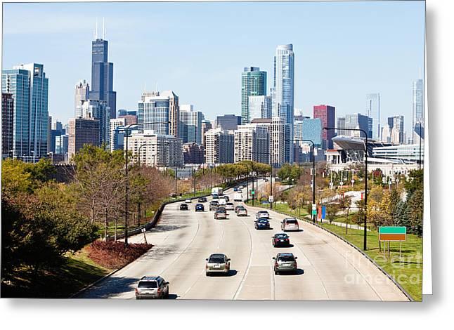 Lake Shore Drive Greeting Cards - Chicago Lake Shore Drive Greeting Card by Paul Velgos