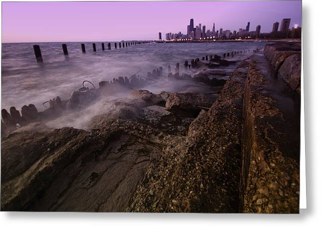 Lake Michgan Greeting Cards - Chicago Lakefront and Skyline Greeting Card by Sven Brogren