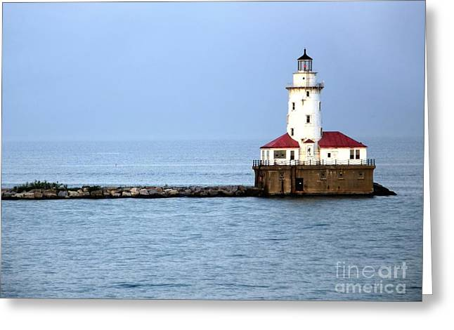 Chicago Lighthouse Greeting Card by Sophie Vigneault