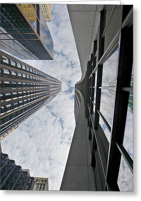 Commerce Greeting Cards - Chicago - Look towards the sky Greeting Card by Christine Till