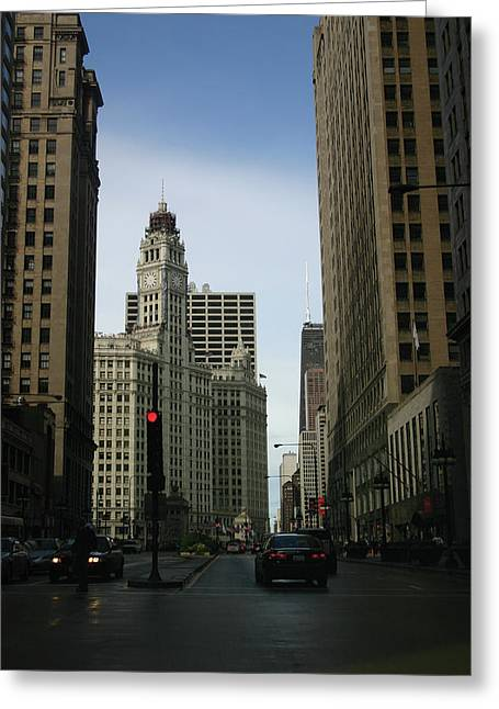 Magnificent Mile Greeting Cards - Chicago Magnificent Mile Greeting Card by Kevin Doty