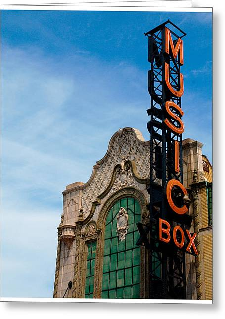 Chicago Artist Greeting Cards - Chicago Music Box theater Greeting Card by Patrick  Warneka