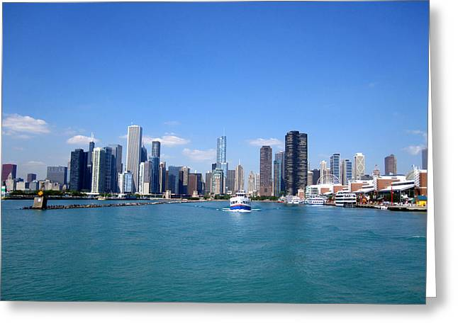 Chi Town Greeting Cards - Chicago Greeting Card by Nancy Ingersoll