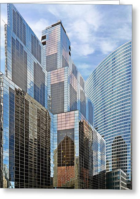 Wacker Drive Greeting Cards - Chicago - One South Wacker and Hyatt Center Greeting Card by Christine Till