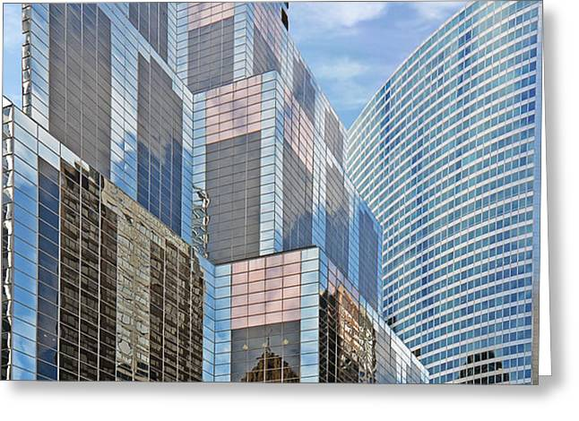 Chicago - One South Wacker and Hyatt Center Greeting Card by Christine Till