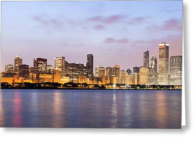 High Resolution Greeting Cards - Chicago Panorama Greeting Card by Paul Velgos
