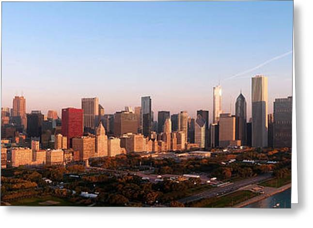 Chicago Panoramic  Greeting Card by Jeff Lewis