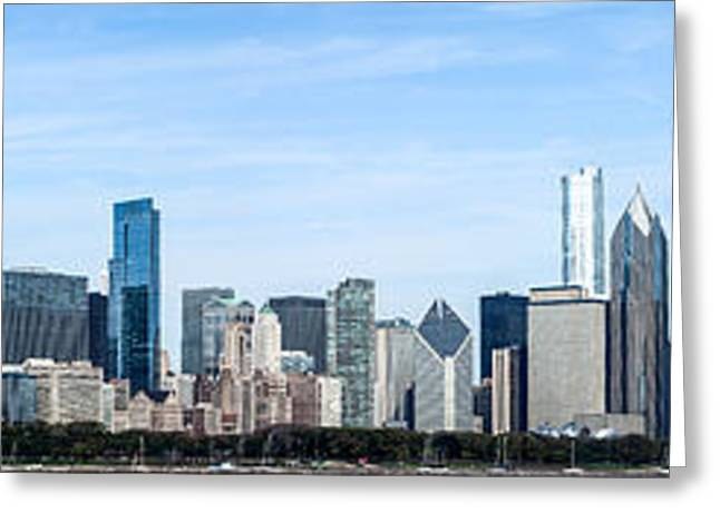 Entire Greeting Cards - Chicago Panoramic Skyline High Resolution Picture Greeting Card by Paul Velgos